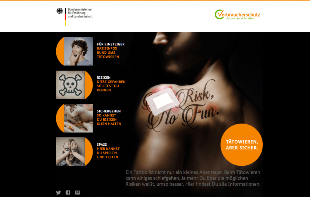Safer Tattoo - BMEL Kampagne