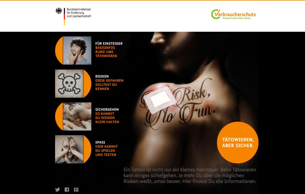 Safer Tattoo - BMEL Kampagne