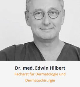 Arztkarteikarte Dr. Edwin Hilbert