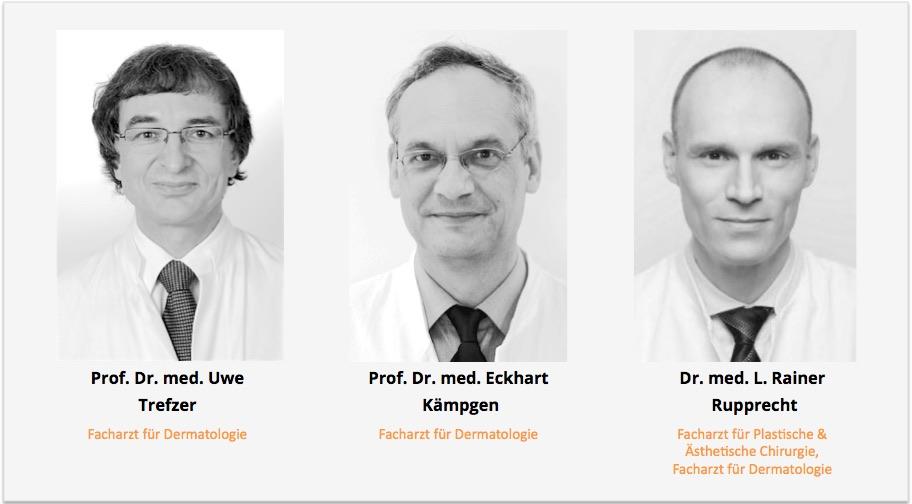 Geschäftsleitung Prof Trefzer Prof Kaempgen Dr Rupprecht Dermatologikum Berlin