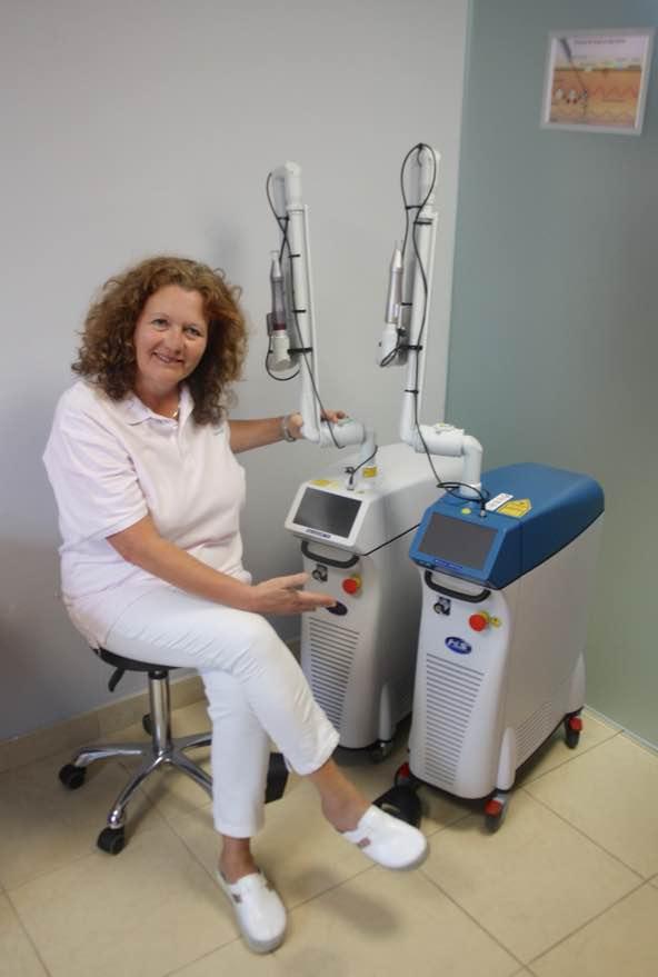 BiAxis Pico QS und BiAxis Nano QS bei Frau Dr. Farthmann und Tattoo-off Teneriffa