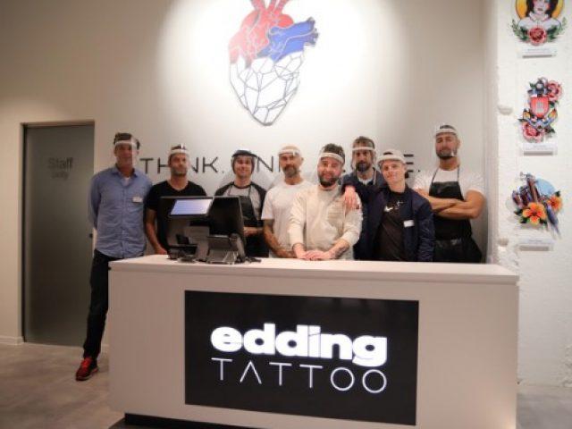 Diskussion um Tattoo-Pigment-Verbot: edding eröffnet eigenes Tattoostudio mit eigenen Tattoofarben