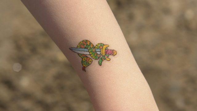 Das Bio-Tattoo sollte nach wenigen Jahren von selber wieder verschwinden